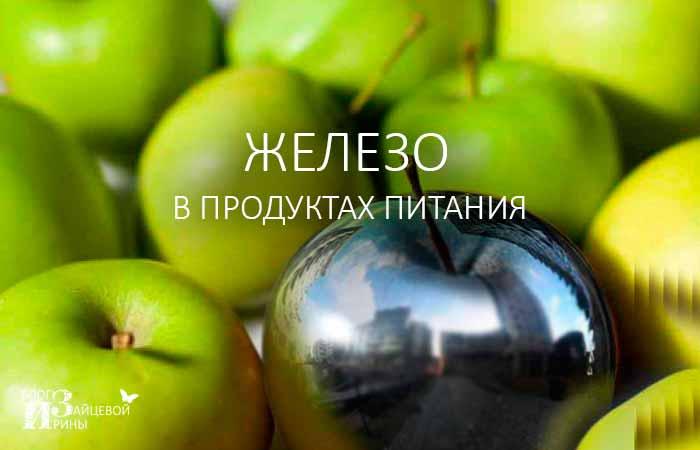 Железо в продуктах питания - важная составляющая здоровья человека