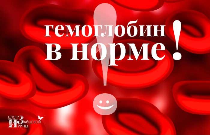 Норма гемоглобина. Продукты, повышающие гемоглобин
