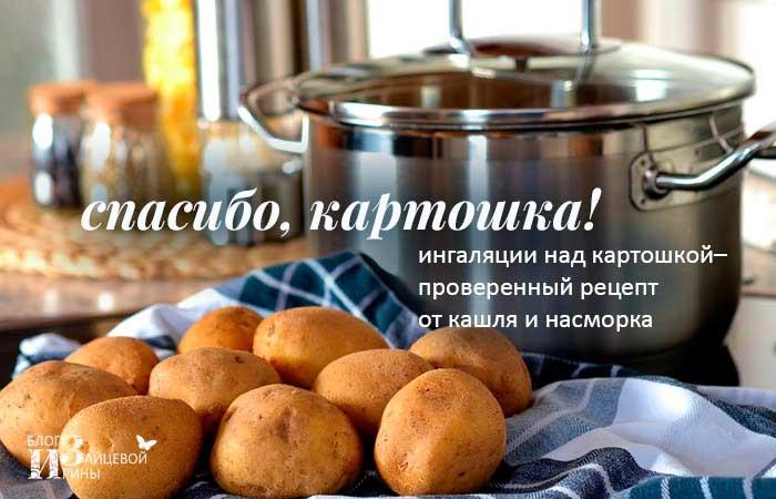 Ингаляции над картошкой при кашле и насморке