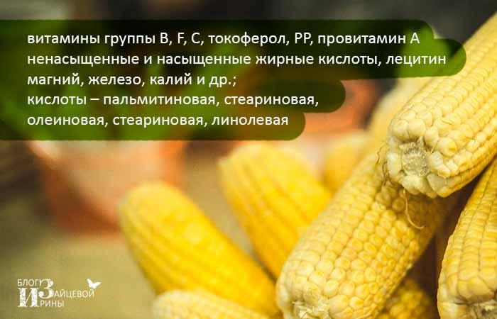 кукурузное масло состав