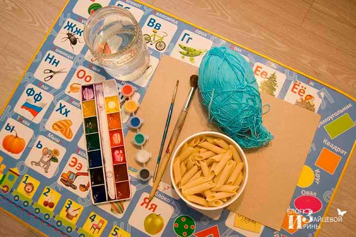 поделки из макарон для детей