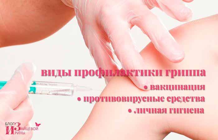 Виды профилактики гриппа