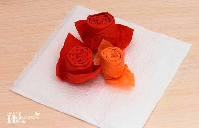 поделки из бумажных салфеток своими руками