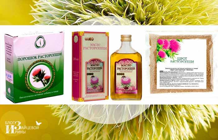 Лечение печени травами расторопши