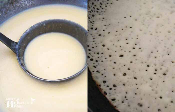 Блины на молоке тонкие пошагово 2