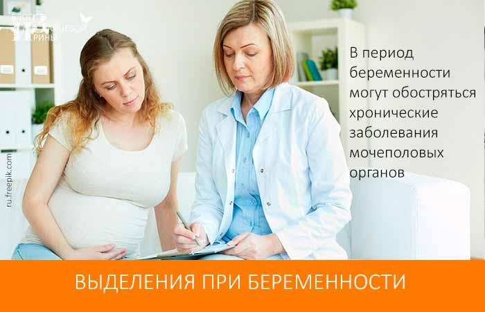Виды выделений у беременных