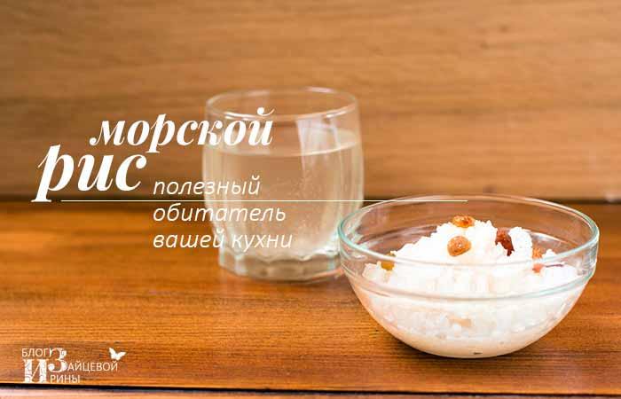 Морской рис – полезный обитатель вашей кухни