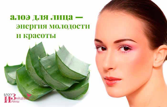 Сок алоэ для кожи лица, применение в домашних условиях