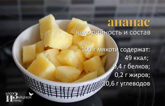 калорийность ананаса