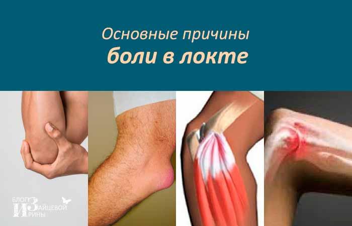 Основные причины боли в локте