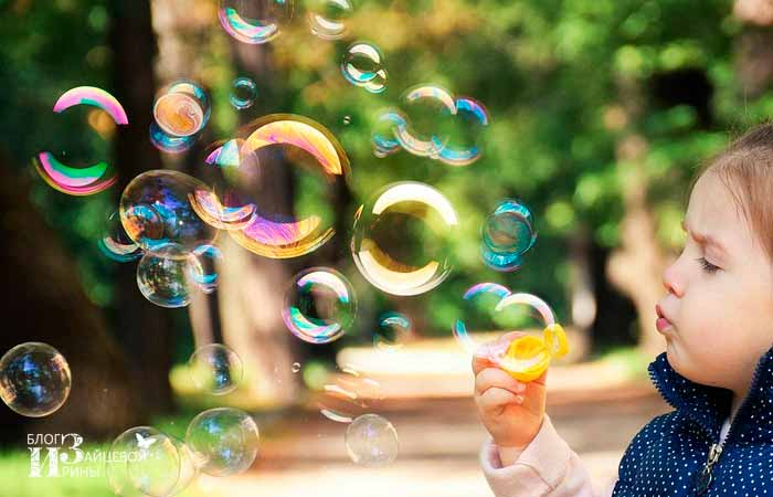рецепт мыльных пузырей