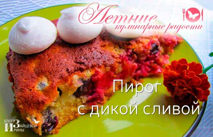 Пирог с дикой сливой