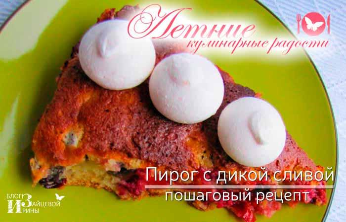 Пирог с дикой сливой фото 6