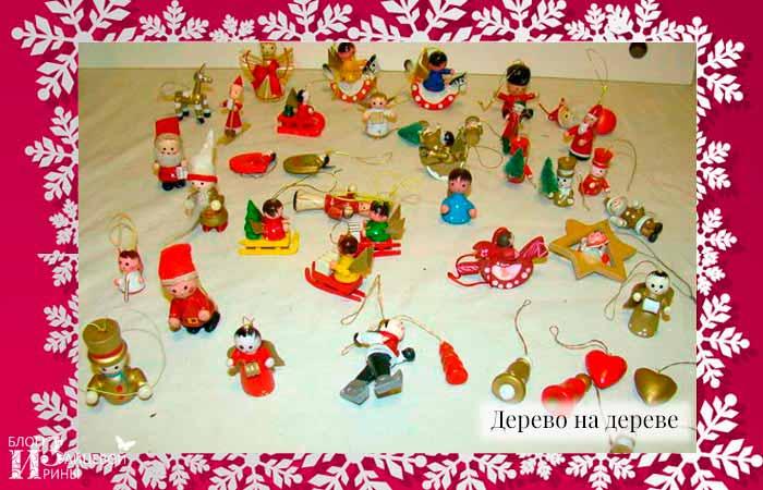 Деревянные елочные игрушки фото 3