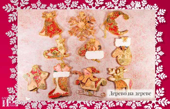 Деревянные елочные игрушки фото 4