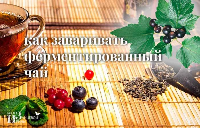 Как заваривать ферментированный чай