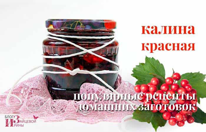 рецепты из красной калины