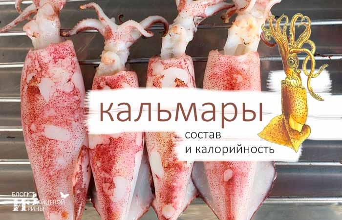 Состав и калорийность кальмаров