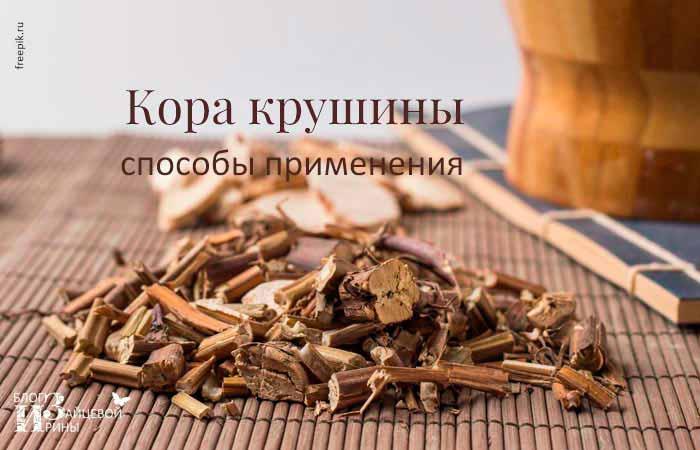 применение коры крушины