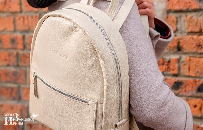 кожаный рюкзак женский 2