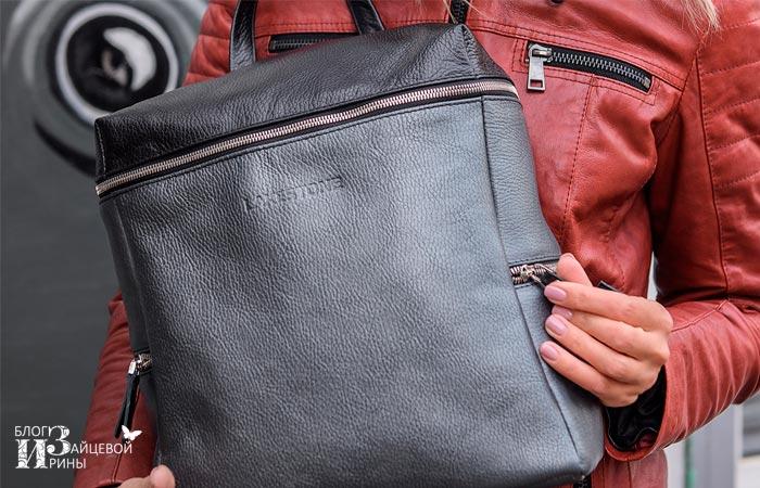кожаный рюкзак женский 3