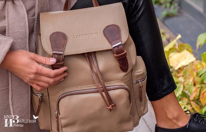 кожаный рюкзак женский 6