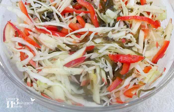 салат морское дно с морской капустой