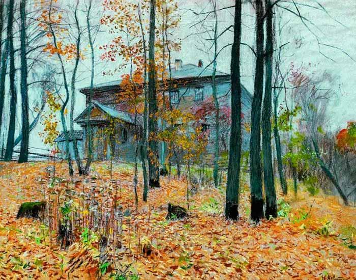 И. Левитан «Поздняя осень. Усадьба»