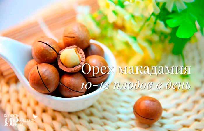 Макадамия калорийность