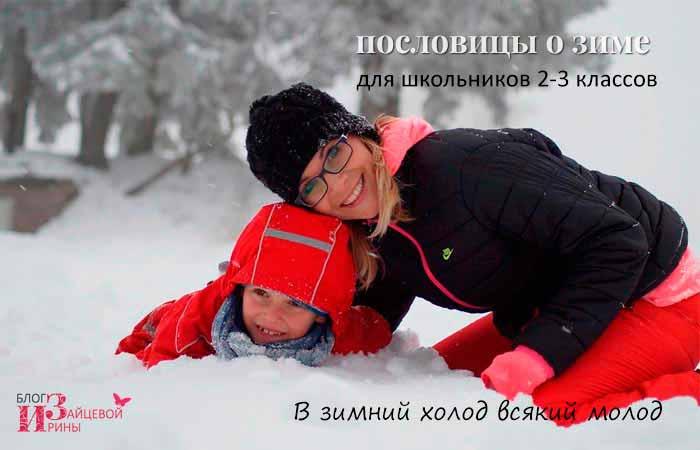 Пословицы о зиме для школьников