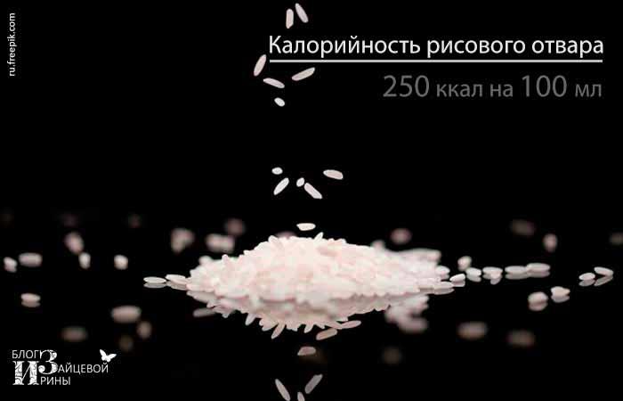 Калорийность рисового отвара