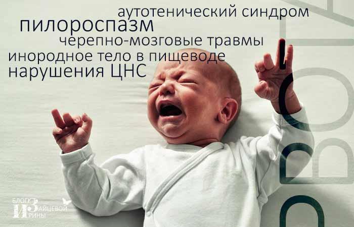 Почему возникает рвота у ребенка