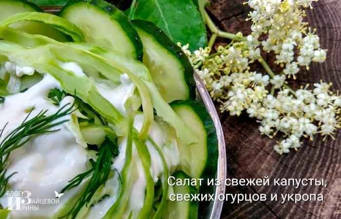 салат из свежей капусты 9