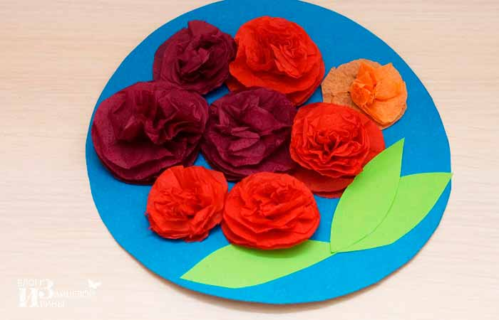 Анимационные любви, открытка розы из салфеток