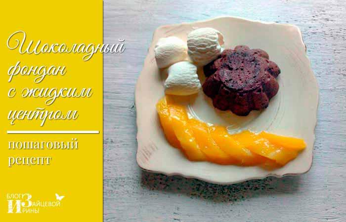 Пошаговый рецепт шоколадного фондана с фото 6