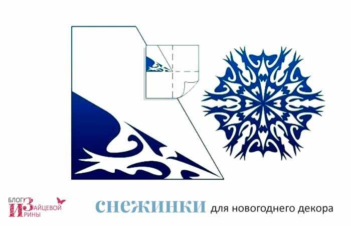 бумажные снежинки 2