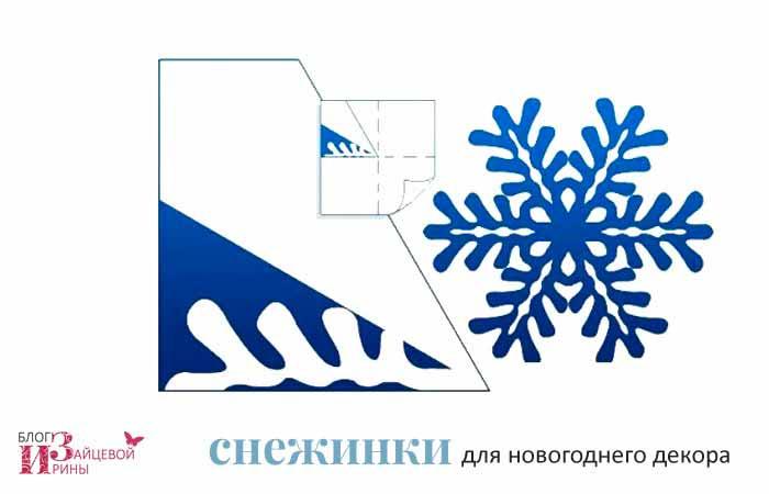 бумажные снежинки 3