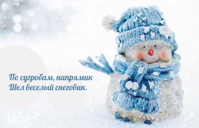 стихи о снеговике