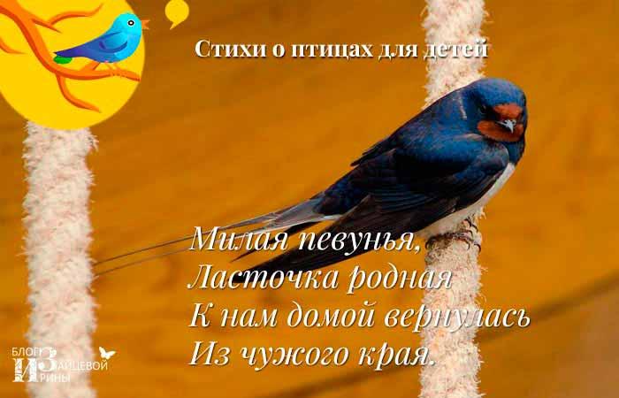 стихи про перелетных птиц