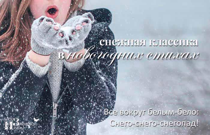 стихи классиков про снежинки
