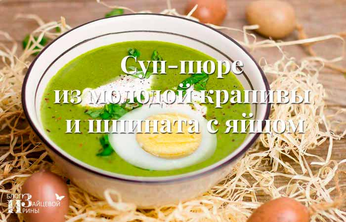 Суп - пюре из молодой крапивы