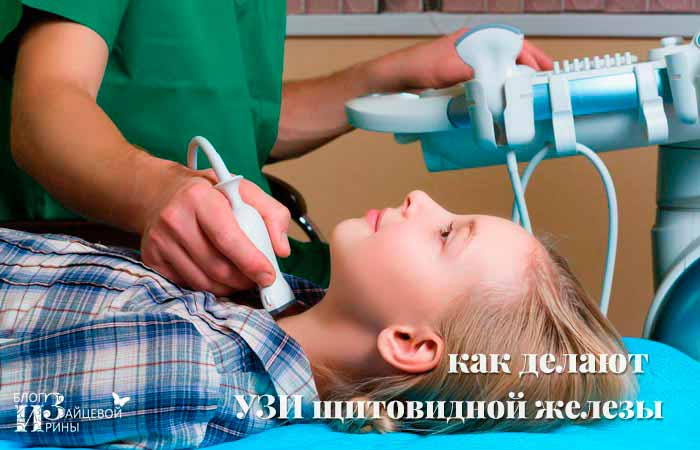Как делают УЗИ щитовидной железы