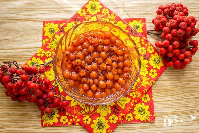 Рецепт классического варенья из красной рябины