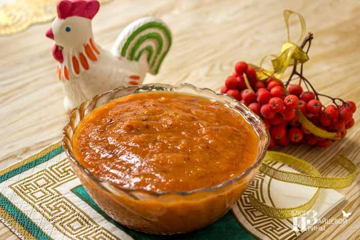 Варенье-паста из красной рябины в микроволновке
